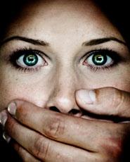 women scared
